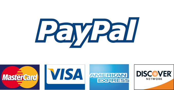 Vi tager imod betalinger via Paypal
