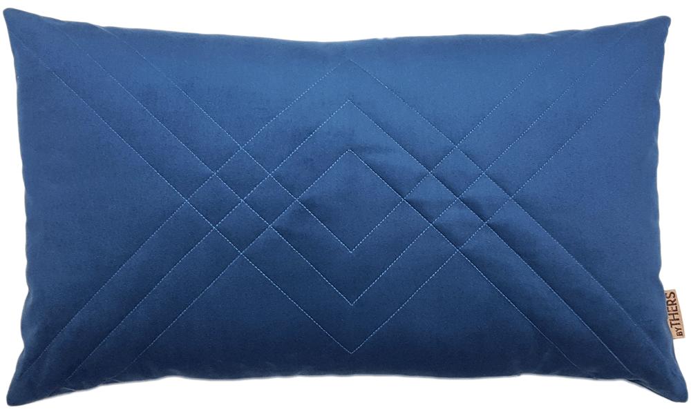 Quiltet velour - byTHERS - Blå