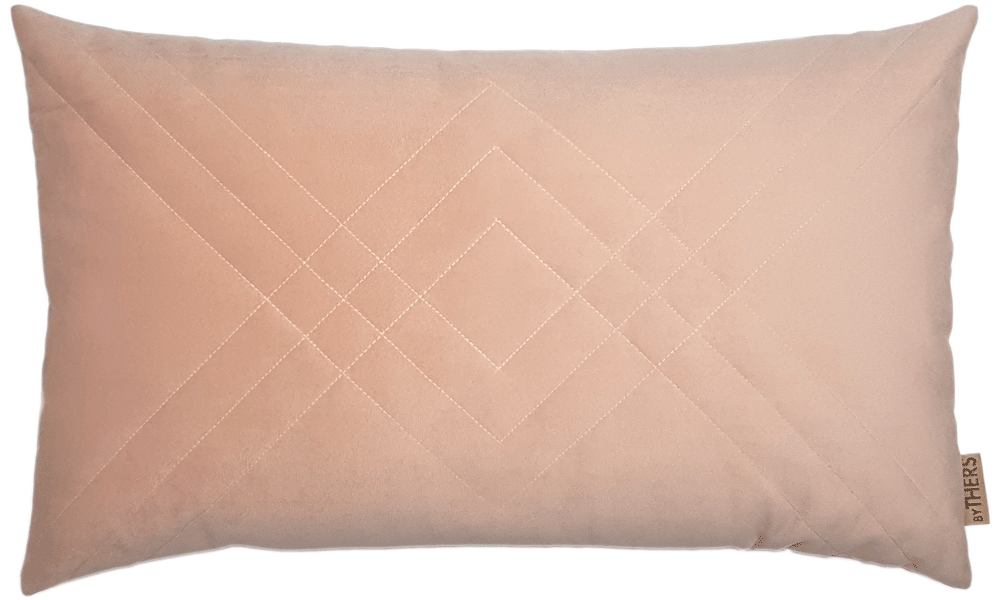 Quiltet velour - byTHERS - Rosa