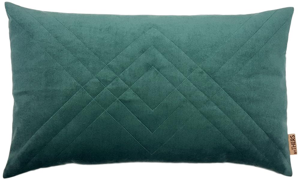 Quiltet velour - byTHERS - Støvet grøn