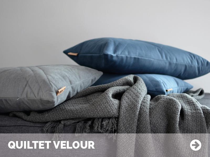 Quiltet Velour - Luksus til din sofa fra byTHERS
