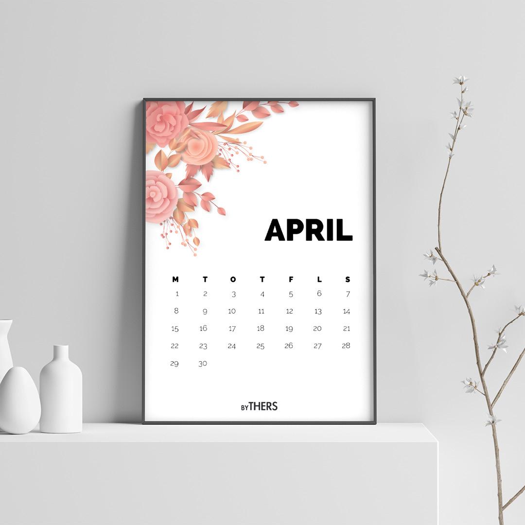 Gratis print-selv kalender 2019 fra byTHERS