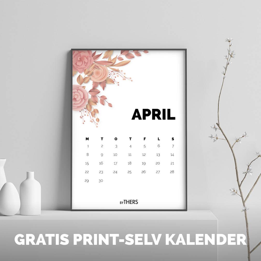 Gratis print-selv kalender 2019