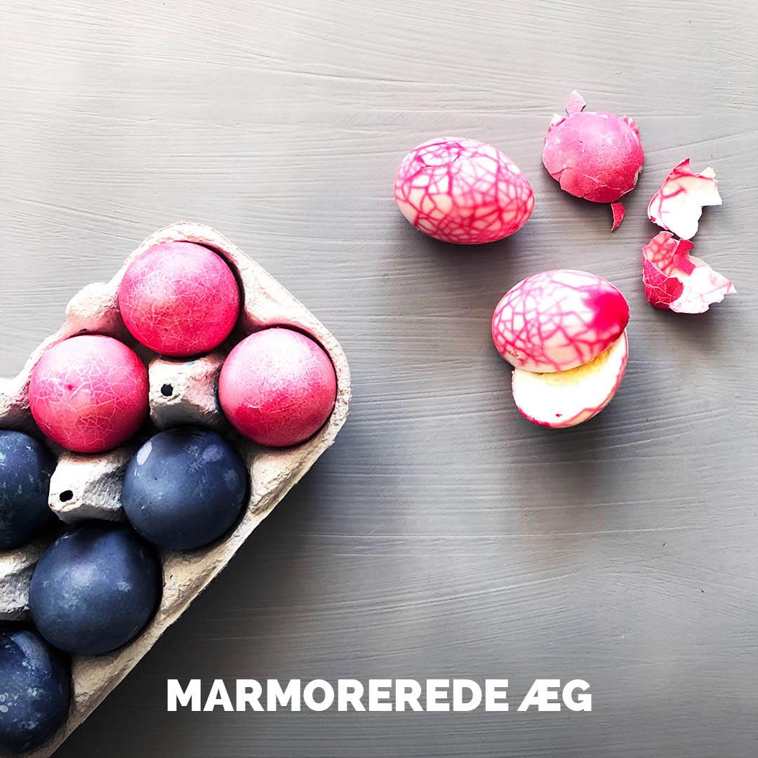 Sådan laver du marmorerede æg